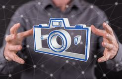 Konzept des Bildteilens stockbilder