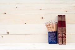 Konzept des Bildungsbuches und -bleistifts Stockfotografie