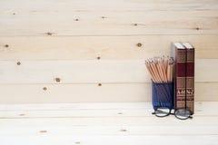 Konzept des Bildungsbuches und -bleistifts Lizenzfreie Stockbilder
