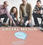 Konzept des Blog-on-line-Sozialen Netzes Lizenzfreie Stockfotos
