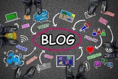 Konzept des Blogs auf einer Straße Lizenzfreies Stockbild