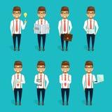Konzept des Charakters des jungen Geschäftsmannes Stockfotografie