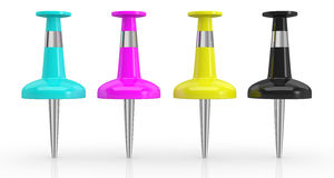 Konzept des cmyk Farbenbaumusters Lizenzfreies Stockbild