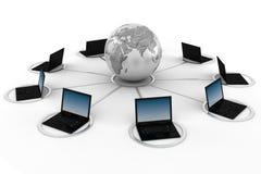 Konzept des E-Learnings 3d, getrennt auf Weiß Lizenzfreies Stockfoto