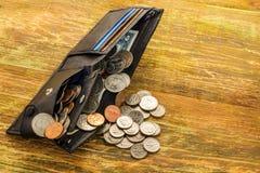 Konzept des Einsparungsgeldes in einer Krise und in den Ausgangsfinanzen, finanzierung Lizenzfreie Stockbilder