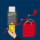 Konzept des elektronischen Geschäftsverkehrs Lizenzfreies Stockbild