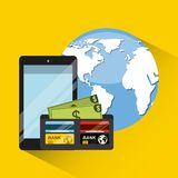 Konzept des elektronischen Geschäftsverkehrs Lizenzfreie Stockfotos