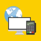 Konzept des elektronischen Geschäftsverkehrs Stockfotos