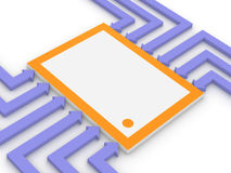Konzept des elektronischen Mikrochips Stockfoto