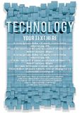Konzept des Entwurfes. Abstrakter Technologie-Hintergrund Lizenzfreie Stockfotos