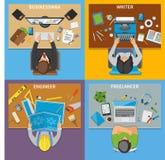 Konzept des Entwurfes der Beruf-Draufsicht-2x2 Lizenzfreies Stockfoto