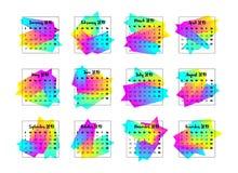 Konzept des Entwurfes mit 2019 Kalendern Jahr 2019 vektor abbildung