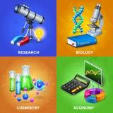Konzept- des Entwurfessatz der Wissenschafts-2x2 lizenzfreie abbildung