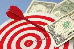 Konzept des Erzielens von Finanzunabhängigkeit Stockfotos