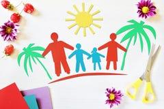 Konzept des Familienurlaubs Lizenzfreie Stockbilder