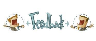 Konzept des Feed-backs Lizenzfreies Stockbild