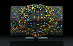 Konzept des Fernsehen-3DTV Stockfotografie