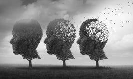 Konzept des Gedächtnisverlustes lizenzfreie abbildung