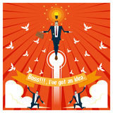 Konzept des Geschäfts-Ideen-Reihe Geschäfts-Teams 2 Stockfoto