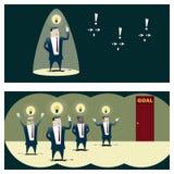 Konzept des Geschäfts-Ideen-Reihe Geschäfts-Teams 8 Stockbilder