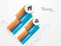 Konzept des Geschäfts infographic Stockfotografie