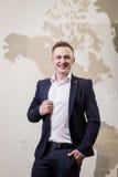 Konzept des Geschäftsmann-, ausgezeichnetem und erfolgreichemJobkonzepts, busi Stockfotos