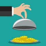 Konzept des Geschäftsmannes ein Geld anbietend Lizenzfreie Stockfotografie