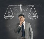 Unternehmerische Entscheidung stockfotos