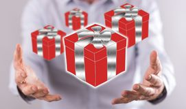 Konzept des Geschenks Stockbild