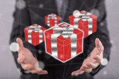 Konzept des Geschenks Lizenzfreie Stockbilder