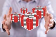 Konzept des Geschenks Lizenzfreie Stockfotos