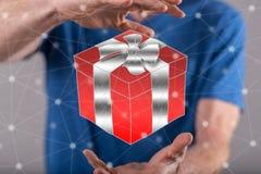 Konzept des Geschenks Lizenzfreies Stockfoto