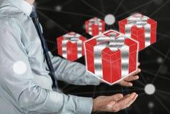 Konzept des Geschenks Stockfotos