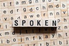 Konzept des gesprochenen Wortes stockbild