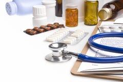 Konzept des Gesundheitswesens oder des medizinischen Hintergrundes Stockbilder