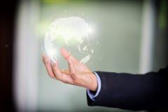 Konzept des globalen Geschäfts mit digitalem Planeten Lizenzfreie Stockfotografie
