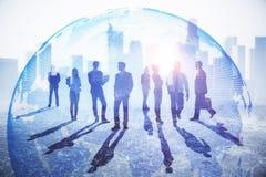Konzept des globalen Geschäfts und der Beschäftigung lizenzfreie stockfotos