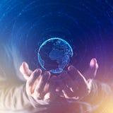 Konzept des globalen Geschäfts und der Kommunikation stockfoto