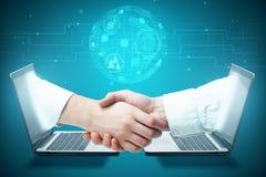 Konzept des globalen Geschäfts und des E-Commerce Stockbild