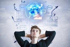 Konzept des globalen Geschäfts und des Marketings Stockfotos