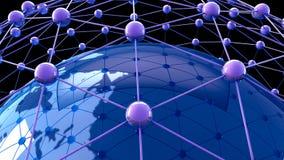 Konzept des globalen Geschäfts Stockbild