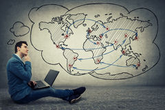 Konzept des globalen Netzwerks lizenzfreie stockbilder
