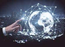 Konzept des globalen Netzwerks und der Kommunikation Lizenzfreies Stockbild