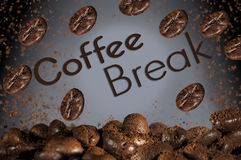 Konzept des guten Morgens der Kaffeepause stockbild
