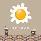 Konzept des gutenmorgens Stockfoto