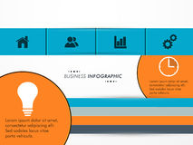 Konzept des infographic Plans des Geschäfts Stockbild