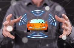 Konzept des intelligenten Autos stockfotos