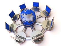 Konzept des Internets. Stockbild