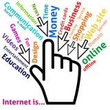 Konzept des Internets in einigen Wörtern Stockbild