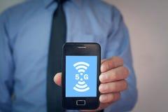 Konzept des Internets 5G und des Netzes Internet Stockbilder